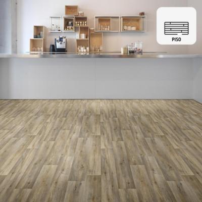 Piso vinílico oak rollo 64 m2