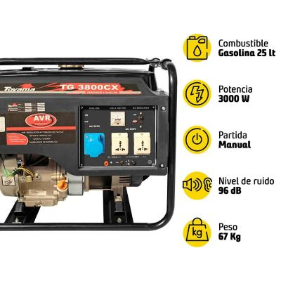 Generador eléctrico a gasolina 3100W