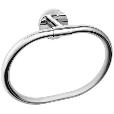 Toallero de anillo 23,5x19 cm metal cromado