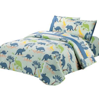 Quilt + sábanas Dinos niño 1,5 pl