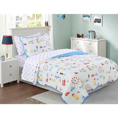 Quilt + sábanas Autos niño 1,5 pl