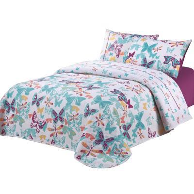 Quilt + sábanas Mariposas niña 1,5 pl