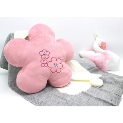 Cojín forma Flor niña 40 cm rosa