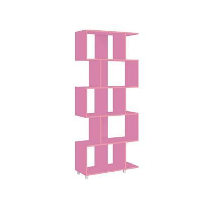 Estante multifuncional rosado 184x79x31 cm