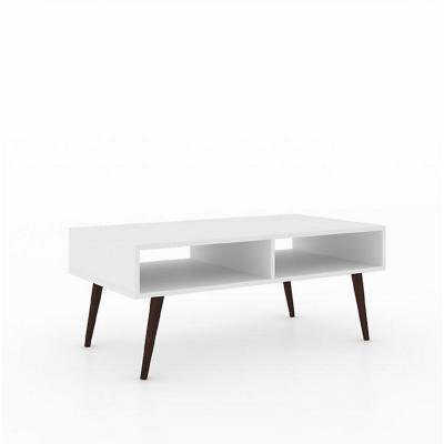 Mesa de centro vintage blanco 42x100x54 cm