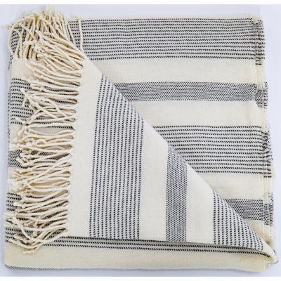 Manta Floren lineas 130x160 cm gris