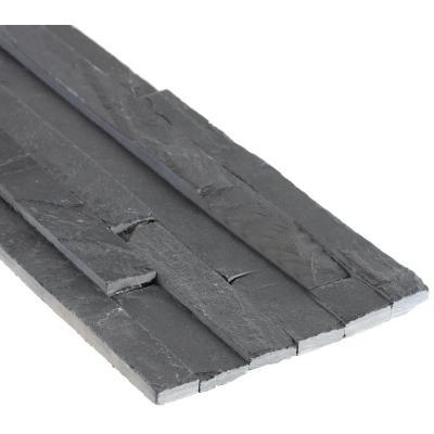 Piedra pizarra negra 15x60x2.5 cm