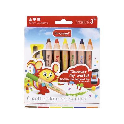 Lápices jumbo 6 colores suaves kids