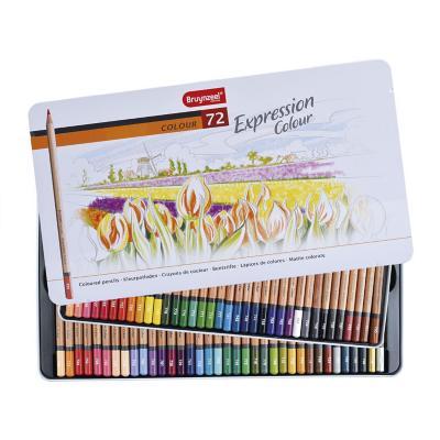 Caja metálica de lápices 72 colores