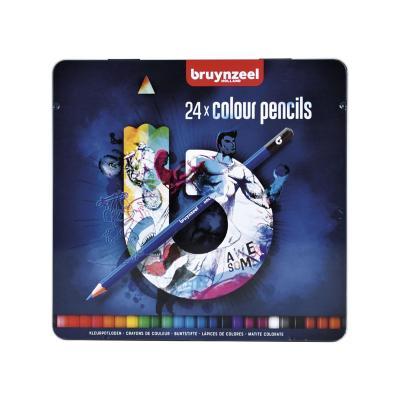 Caja de lápices 24 colores oscuro