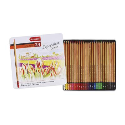 Caja metálica de lápices 24 colores