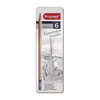 Caja metálica de lápices grafito 6 graduaciones