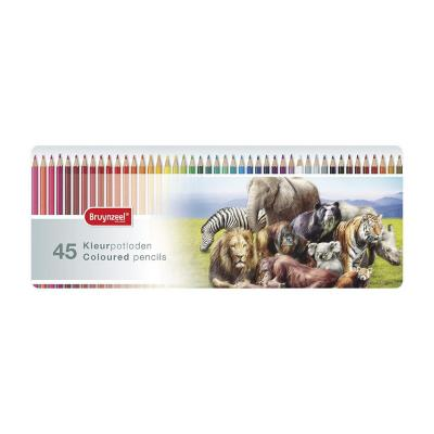 Caja de lápices 45 colores animales