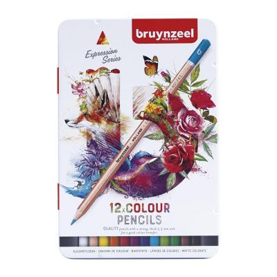 Caja metálica de lápices 12 colores