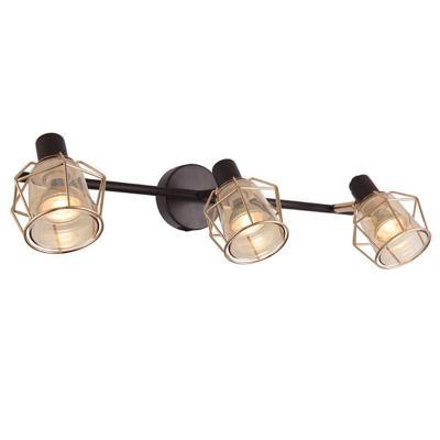 Barra tubo 3 luces GU10 kratia café oro