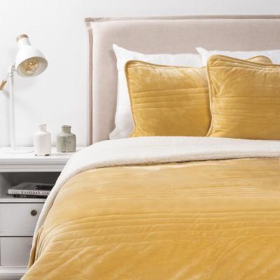Cobertor velvet mustard 2 plazas