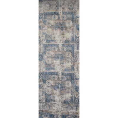 Alfombra pasillo zeugma 80x215 cm azul