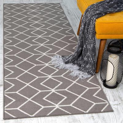 Alfombra pasillo kashan king 70x230 cm gris