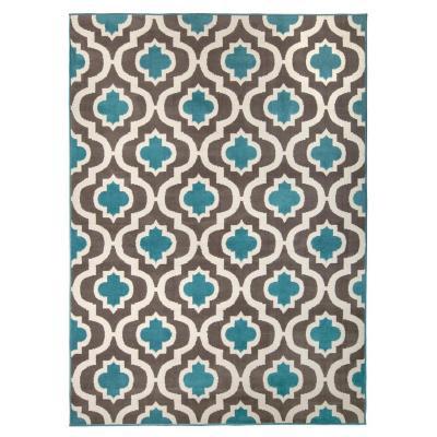 Bajada de cama kashan king 60x90 cm azul