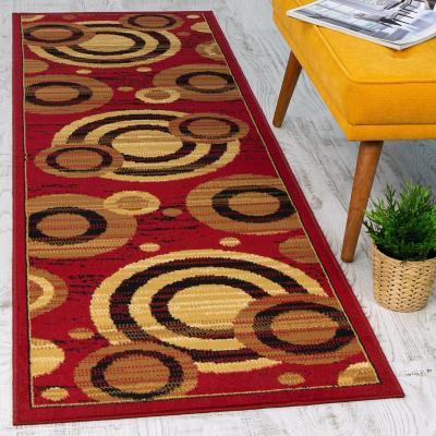 Alfombra pasillo kashan king 70x230 cm rojo