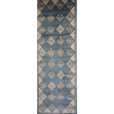 Alfombra pasillo bosphorus 80x230 cm azul