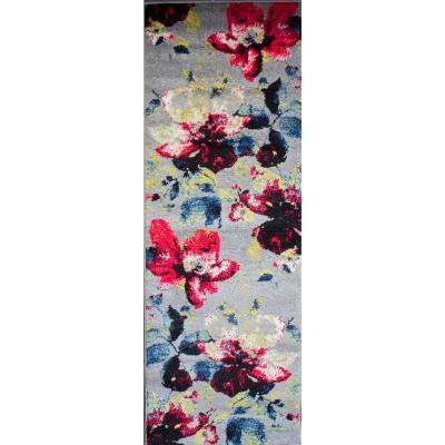 Alfombra pasillo florida 80x230 cm gris