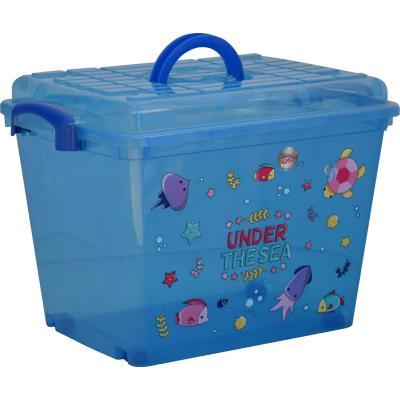 Caja con ruedas 35 l 33x34x48 cm azul