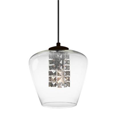 Lámpara colgante Mosalisa transparente 1 luz E27