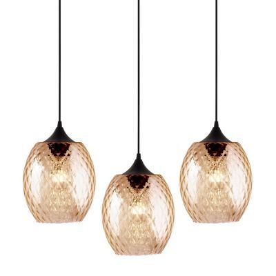 Lámpara colgante Badih beige 3 luces E27