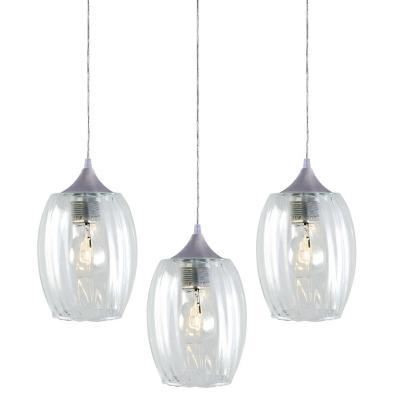 Lámpara colgante Badih transparente 3 luces E27