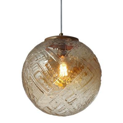 Lámpara colgante Asteka café 1 luz E27