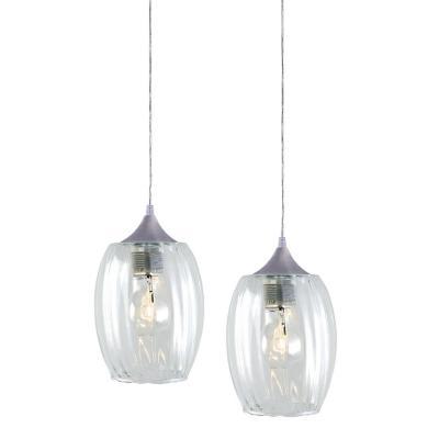 Lámpara colgante Badih transparente 2 luces E27
