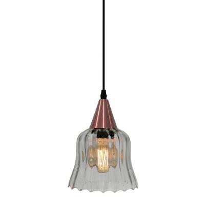 Lámpara colgante Gávea transparente/cobre 1 luz E27