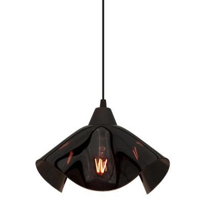 Lámpara colgante Voal negro 1 luz E27