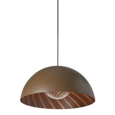 Lámpara colgante Sfera café 1 luz E27