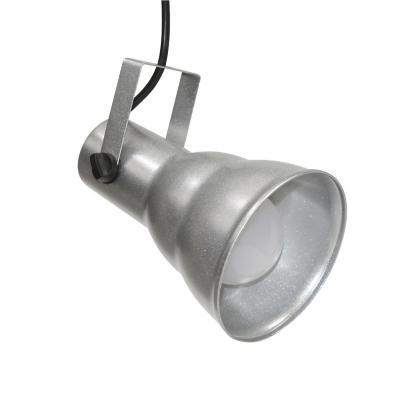Lámpara colgante Hol plateado 1 luz E27