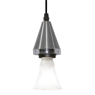 Lámpara colgante Horus Cone plateado 1 luz G9