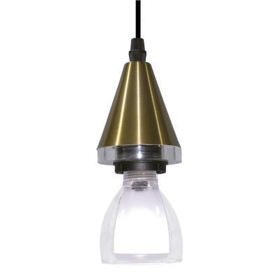 Lámpara colgante Horus Pear dorado 1 luz G9