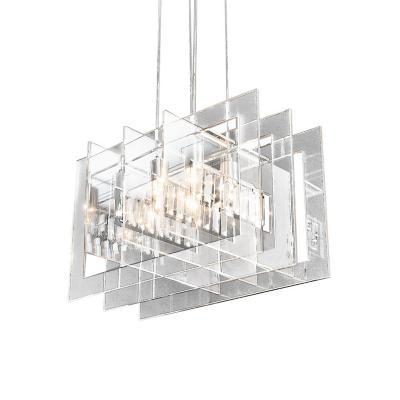 Lámpara colgante Jamal transparente 4 luces E27