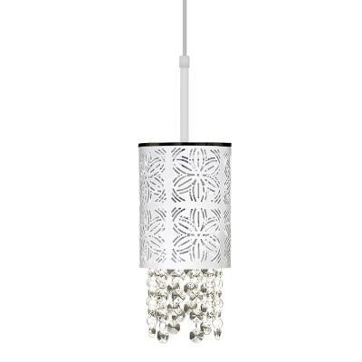 Lámpara colgante Machiato blanco 1 luz E27