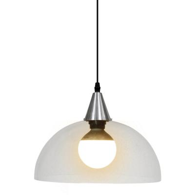Lámpara colgante Lena transparente 1 luz E27