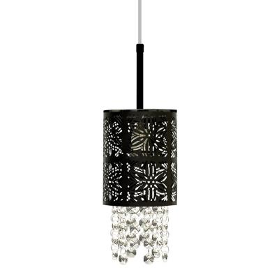 Lámpara colgante Machiato negro 1 luz E27