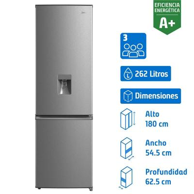 Refrigerador no frost bottom freezer 262 litros