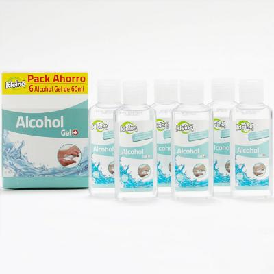 Pack 6 alcohol gel 60 ml c/u