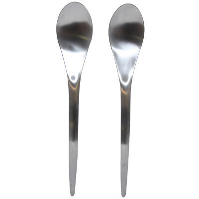 Set cuchilleria acero inoxidable plateada 2 piezas