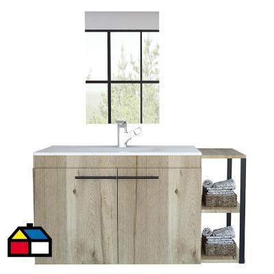 Combo mueble de lavamanos flotante + espejo