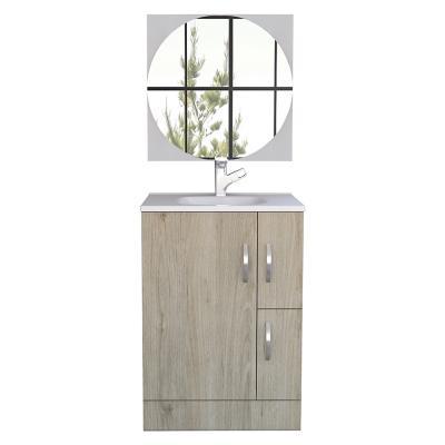 Combo mueble de baño + espejo rovere blanco