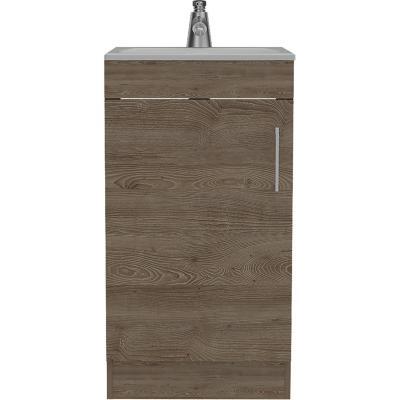 Combo mueble de lavamanos + espejo miel