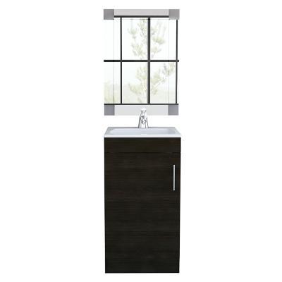 Combo mueble de lavamanos + espejo wengue