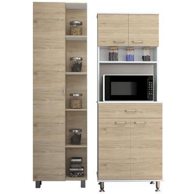 Combo cocina mueble cocina + optimizador - rovere / blanco